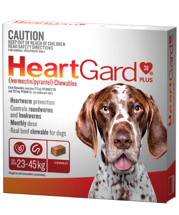 Heartgard Plus Chews for Dogs 51-100lb (Brown, 23-45kg)
