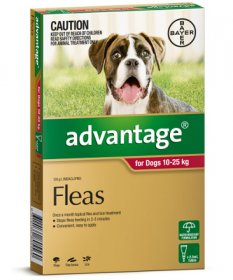 Advantage for Large Dogs 21-55lb (Red, 10-25kg)