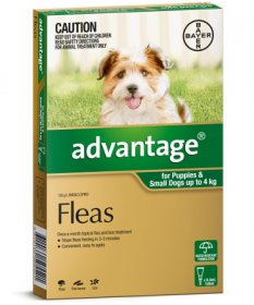 Advantage for Small Dogs 3-10lb (Green, 0-4kg)