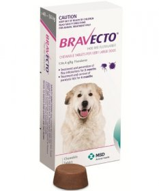 Bravecto Chewable Tablet for Dogs 88-123lb (Pink, 40-56kg)