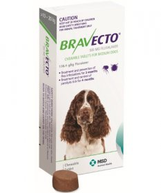 Bravecto Chewable Tablet for Dogs 22-44lb (Green, 10-20kg)