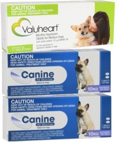 Complete Worming Pack for Medium Dogs 23-44lb (11-20kg) - Valuheart plus Canine Allwormer
