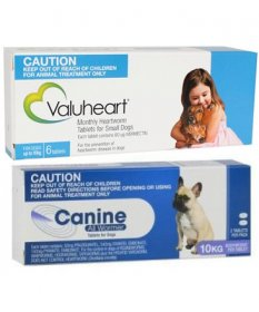 Complete Worming Pack for Small Dogs Up to 22lb (10kg) - Valuheart plus Canine Allwormer