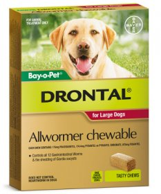 Drontal (Plus) Allwormer Chewables for Dogs 77lb (35kg)