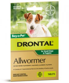 Drontal (Plus) Allwormer Tablets for Dogs 6.6lb (3kg)