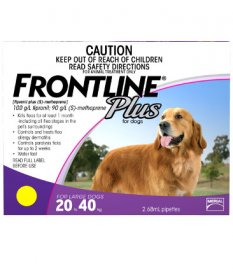 Frontline Plus for Dogs 45-88lb (Purple, 20-40kg)