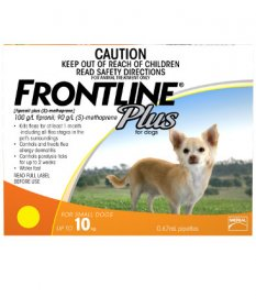 Frontline Plus for Dogs 0-22lb (Orange, 0-10kg)