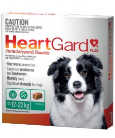 Heartgard Plus Chews for Dogs 23-50lb (Green, 12-22kg)