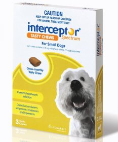 Interceptor Spectrum Chews for Small Dogs 8-25lb (Green, 4-11kg)