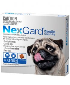 NexGard Chewables for Medium Dogs 10-24lb (Blue, 4-10kg)