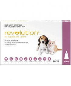Revolution for Puppies & Kittens 0-5lb (Pink, 0-2.5kg)