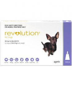 Revolution for Dogs 5-10lb (Purple, 2.6-5kg)